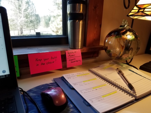 Appointment book on desk.  Photo:  Theresa Duncan